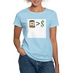 Time Greater Money Women's Light T-Shirt