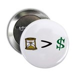 "Time Greater Money 2.25"" Button (10 pack)"