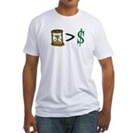 Time Greater Money Fitted T-Shirt