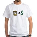 Time Greater Money White T-Shirt
