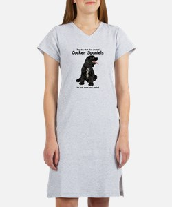 Cute Cocker spaniel Women's Nightshirt