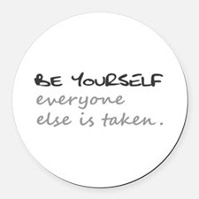BE YOURSELF Round Car Magnet