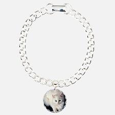 White Cat with Blue Eyes Bracelet