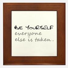 BE YOURSELF Framed Tile