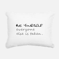 BE YOURSELF Rectangular Canvas Pillow