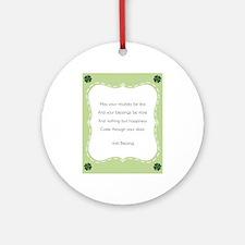 Irish Blessing Round Ornament