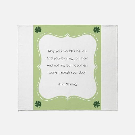 Irish Blessing Throw Blanket