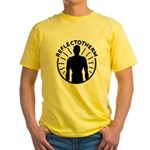 Vintage corporate logo yellow T-Shirt