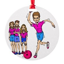 Women's bowling Team Ornament