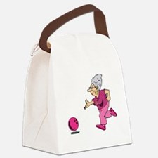 Bowling granny Canvas Lunch Bag