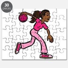 Lady Bowler In Pink Puzzle
