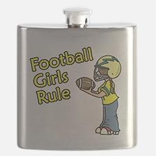 Football Girls Rule Flask