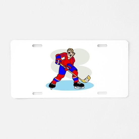 Hardcore Hockey Girl Aluminum License Plate