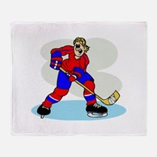 Hardcore Hockey Girl Throw Blanket
