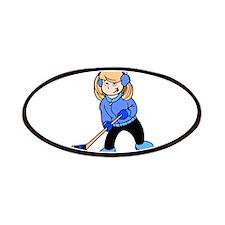 Blonde Hockey Girl Patch