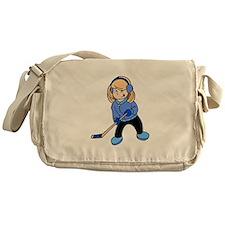 Blonde Hockey Girl Messenger Bag