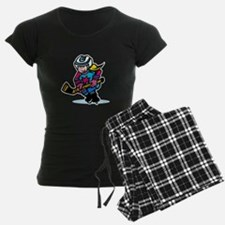 Blonde Hockey Girl Pajamas