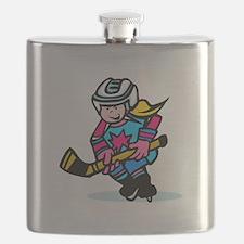 Blonde Hockey Girl Flask