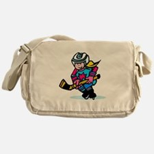 Blonde Hockey Girl Messenger Bag