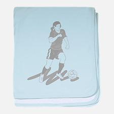 Soccer Girl baby blanket