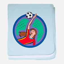 Soccer Girl Goalie baby blanket
