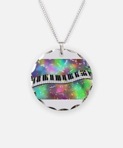 Rainbow Keyboard Necklace
