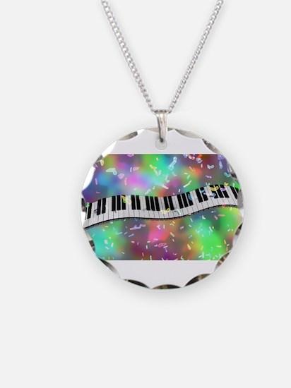 Rainbow Keyboard Necklace