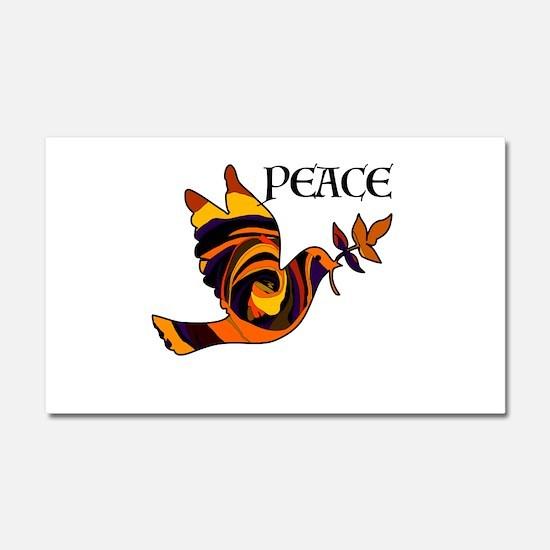 Peace Dove-MC Car Magnet 20 x 12