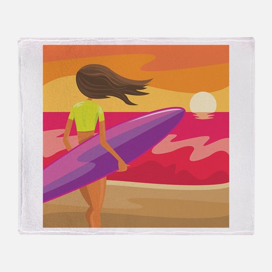 Surf Scape Throw Blanket