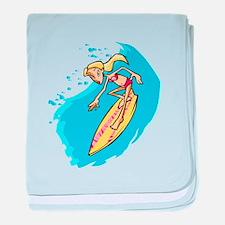 Surfer Girl baby blanket