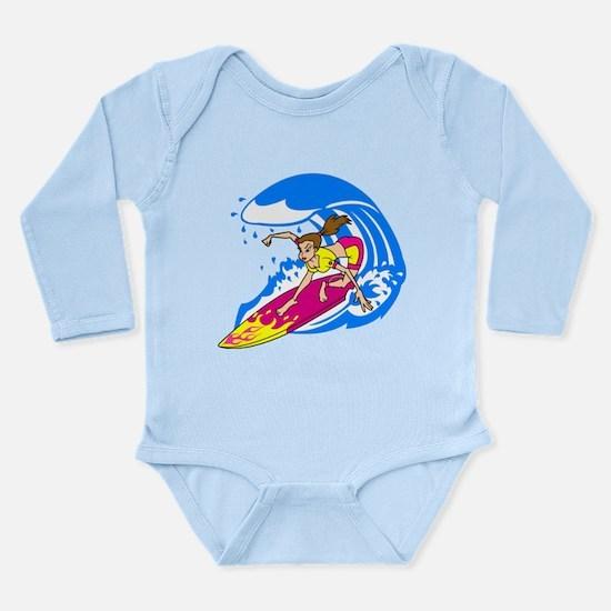 Hang 10! Long Sleeve Infant Bodysuit