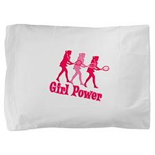 Girl Power Tennis Logo Pillow Sham