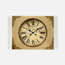 Gold Clock Graphic Magnets