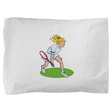 Tennis Girl Pillow Sham