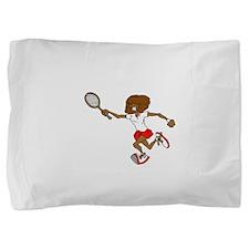 Red Tennis Player Pillow Sham
