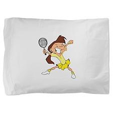 Yellow Tennis Girl Pillow Sham
