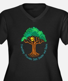 Bright Colored Friendship Tree Plus Size T-Shirt