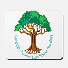 Bright Colored Friendship Tree Mousepad