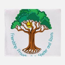 Bright Colored Friendship Tree Throw Blanket