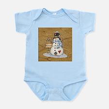Folk Art Snowman Body Suit