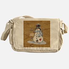 Folk Art Snowman Messenger Bag