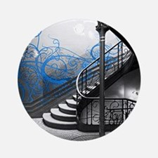 Gothic Staircase Round Ornament