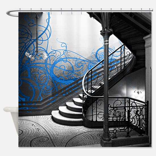 Gothic Staircase Shower Curtain