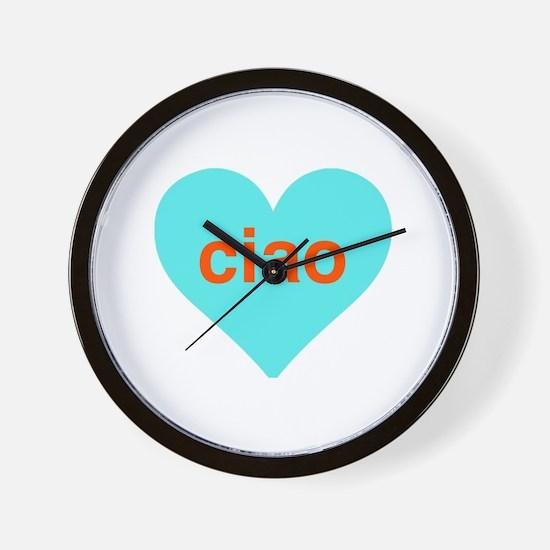 Ciao heart Wall Clock