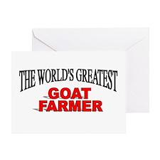 """The World's Greatest Goat Farmer"" Greeting Card"