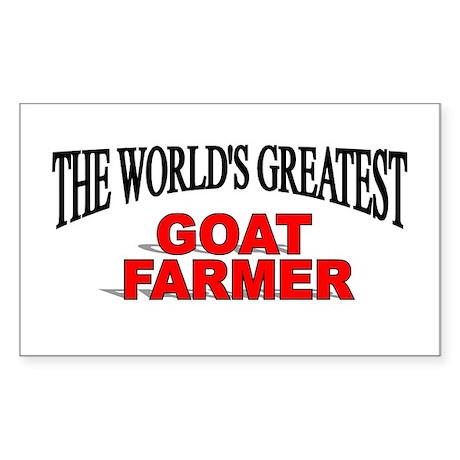 """The World's Greatest Goat Farmer"" Decal by thegreatestshop"