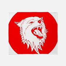 Cute Red wolf Throw Blanket