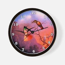 Green Throated Hummingbird Wall Clock