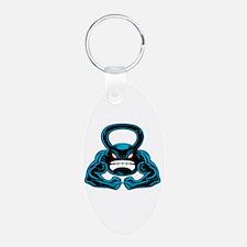 kettlebell mascot Keychains