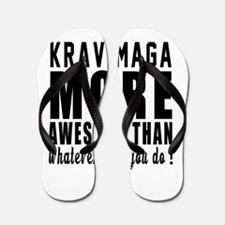 Krav Maga More Awesome Martial Arts Flip Flops